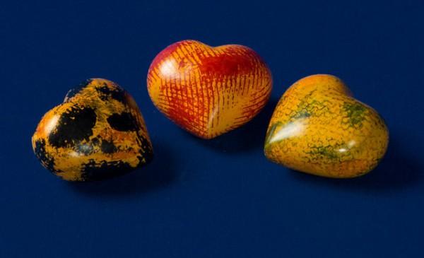 Herz Mini mini farbig Speckstein