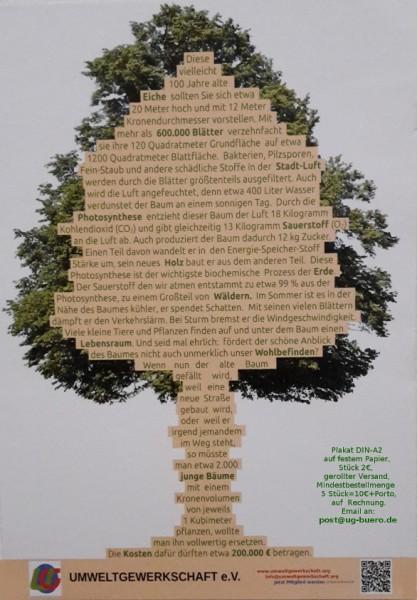 Plakat: Erstaunlich, was ein alter Baum so alles leistet...