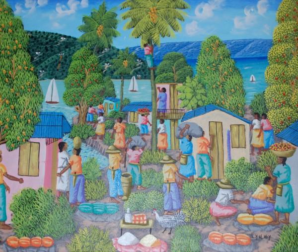 Gemälde Dorf