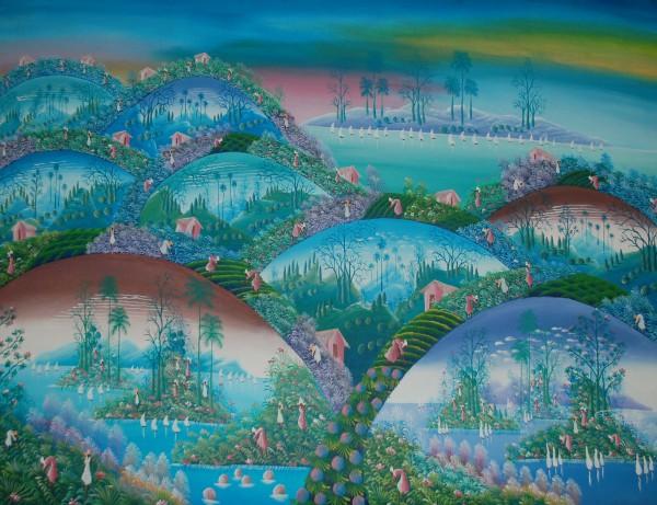 Gemälde Pelikane