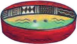 Dose oval mit Massai-Muster