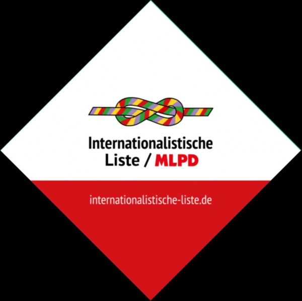 Buttons der Internationalistischen Liste / MLPD, diverse Motive