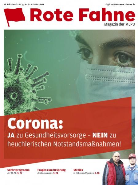 Rote Fahne zu Corona, Ausgabe 7/2020