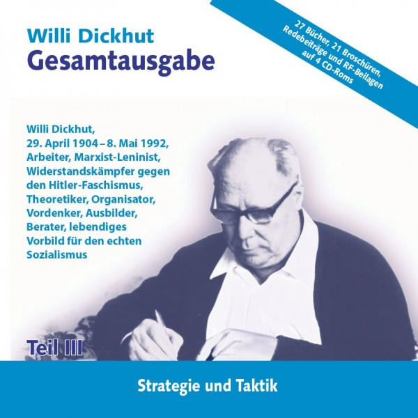 Willi Dickhut Gesamtausgabe - Teil III: Strategie und Taktik - CD
