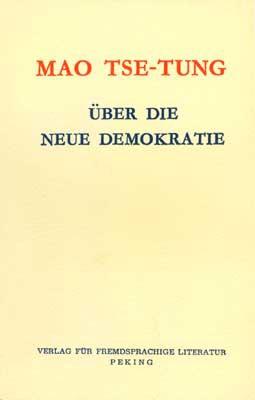 Über die neue Demokratie
