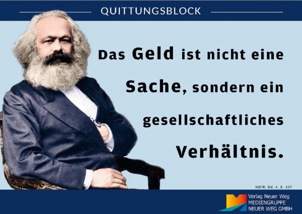 Quittungsblock Marx