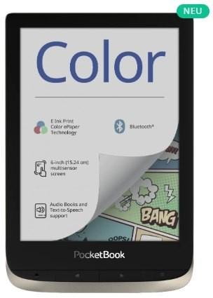 PocketBook Color - moon silver, E-Book Reader