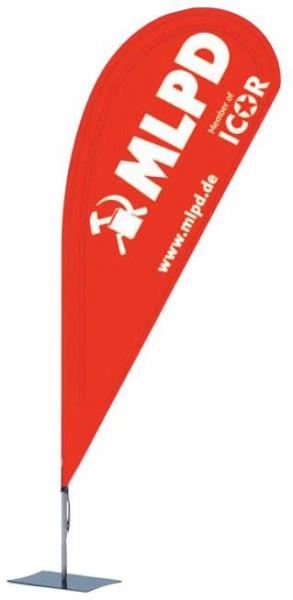 Spannflagge MLPD/ICOR
