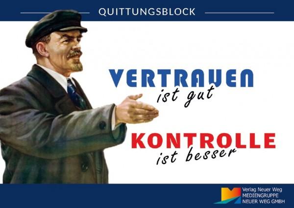Quittungsblock Lenin