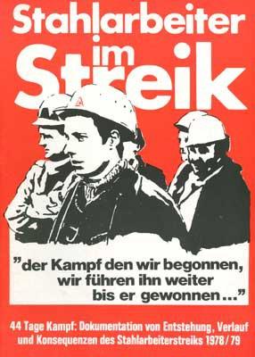 Stahlarbeiter im Streik 1978
