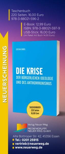 """RollUp Plakat zum Buch """"Die Krise der bürgerlichen Ideologie und des Antikommunismus"""""""